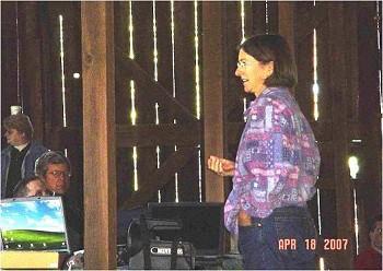 Farm Advisor Rachael Long at the Yolo County Habitat Restoration Workshop